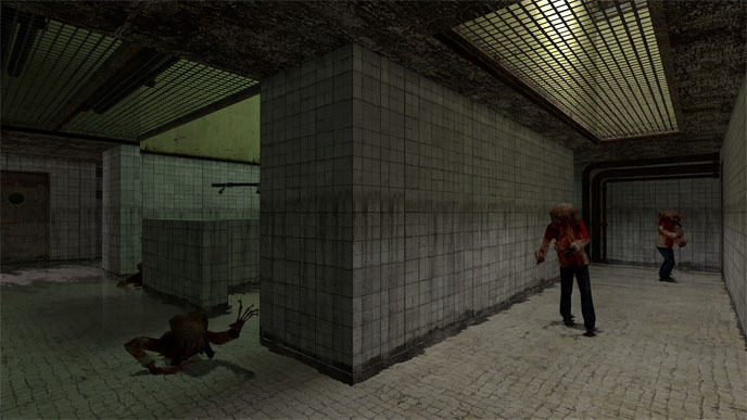 My unnamed HL2:Retaliation map. I guess it should have a name. Let us call it... hl2r_showers?
